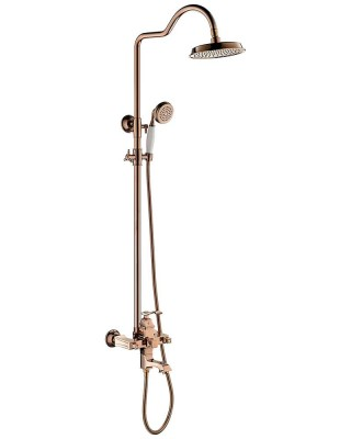 Luxury Shower Set, High End shower na may Antique Gold Shower Head