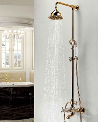 Mga Pag-aayos ng Luxury ng shower |  Antique Copper Shower Head