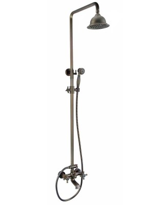 Ang Antique Brass Exposed Shower, Luxury Home shower