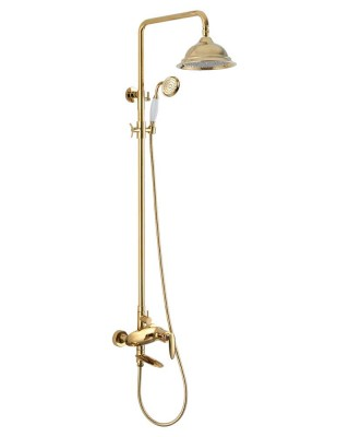 Ang mga Luxury Shower at Golden Brass Vintage Shower Fixtures