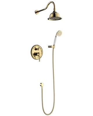 Antique Shower Set with Double Shower Heads, U.S. NPT 1/2″