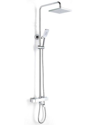 Exposed Thermostatic Shower with Rainfall Shower Head