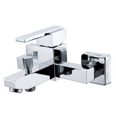Bath Mixer Tap with Dual Outlets | Bathtub Shower Faucet