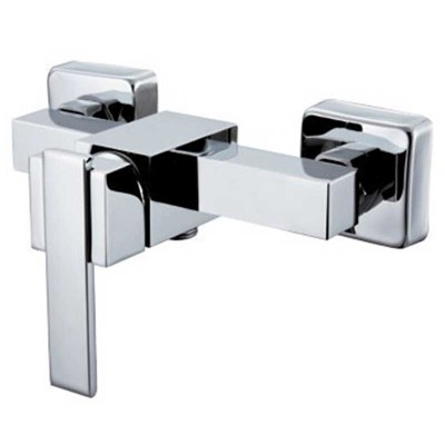 Wall Mixer Tap Chrome Finish | Bathroom Shower Faucet