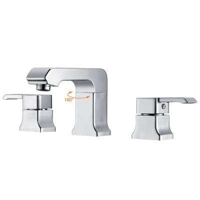 Widespread Bathroom Faucet 2 Handles and 3 Holes