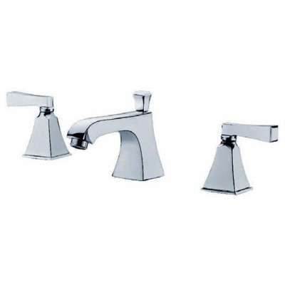 Chrome Faucet Brass | Dual Handle Widespread Sink Faucet