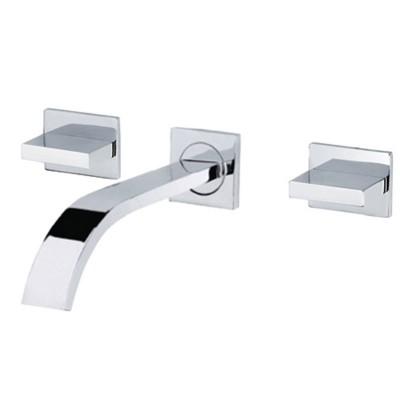 Wall Mount Bathroom Sink Faucet Waterfall and 2 Handle