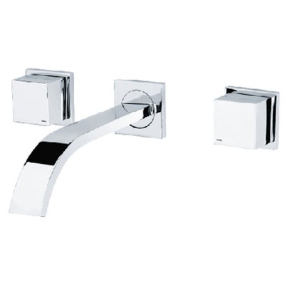Wall Mount Waterfall Bathroom Faucet with Rough in Valve