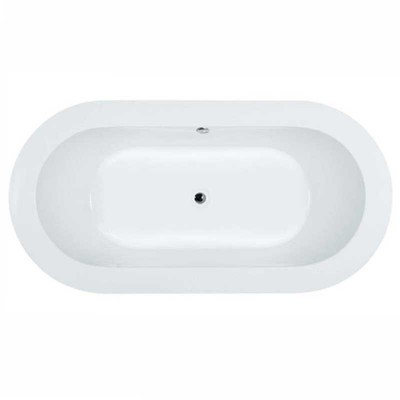 5 ft. Deep Soaking Alcove Tub | Oval Drop-in Recessed Bathtub
