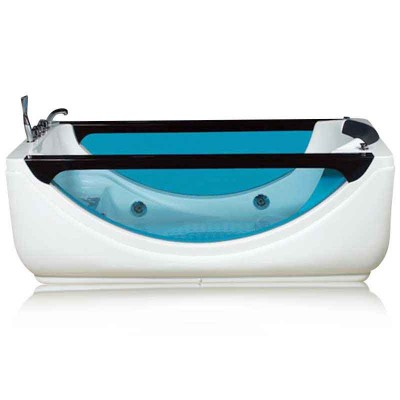 Acrylic Whirlpool Bath | Rectangular SPA Bathtub with Shower