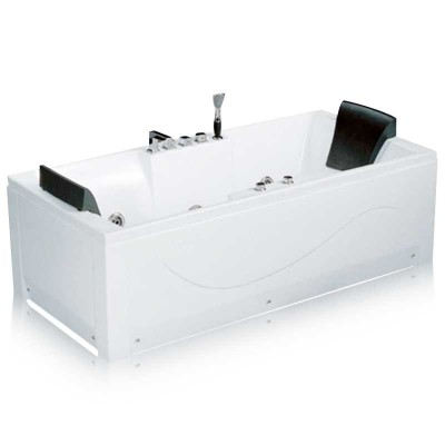 Stand Alone Jetted Tub | Rectangular Whirlpool Soaking Tub