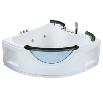 Acrylic Bathtub with Jets | Freestanding Neo-Angle Corner Tub