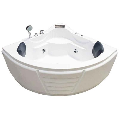 2 Person Jetted Tub | Neo-angle Corner Bathtub for Small Bathrooms