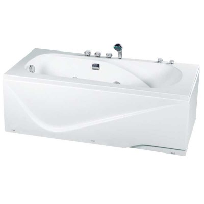 Alcove Jetted Tub 63″ Rectangular | Soaker Tub with Jets