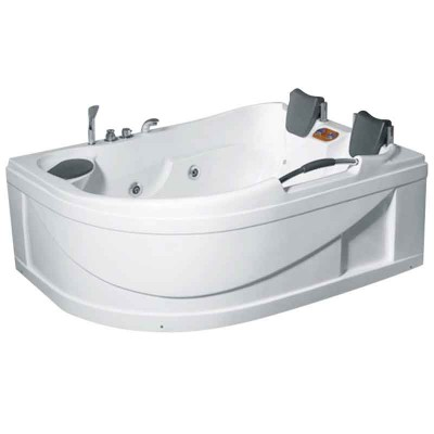 Two Person Jetted Tub with Shower | Neo-angle Corner Whirlpool Tub