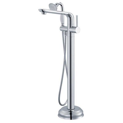 Roman Tub Faucets Floor Mount | Stand-alone Bathtub and Shower Faucets