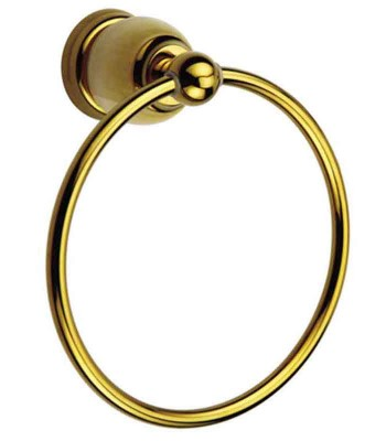 Bathroom Towel Ring in Classical Style | Gold Towel Ring