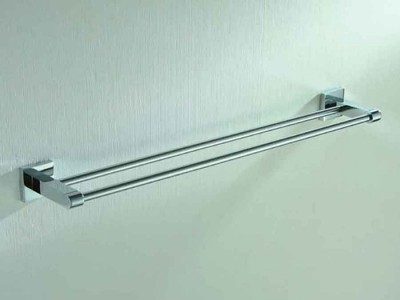 Bathroom Towel Rack with 2 Bars | Wall Mounted Towel Holder