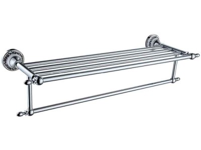 Multiple Bathroom Towel Hanger | Luxury Bath Towel Shelf in Chrome