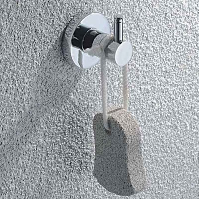 Bath Hook Round Corner Design | Wall Chrome Towel Hook