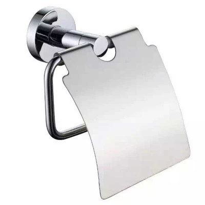 Bathroom Lavatory Toilet Paper Holder with Cover in Chrome