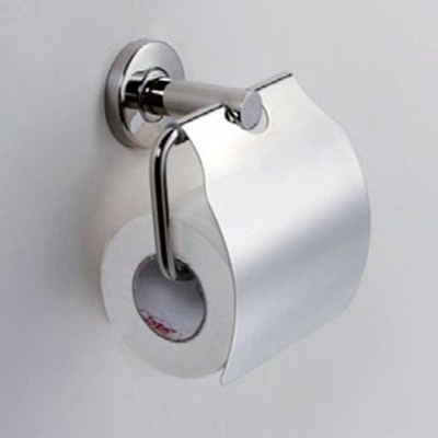 Wall-mounted Toilet Roll Holder with Cover and Single Post