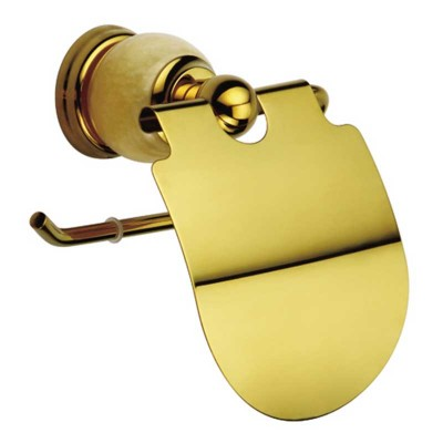 Wall Mount Toilet Paper Roll Holder in Gold Luxury Style