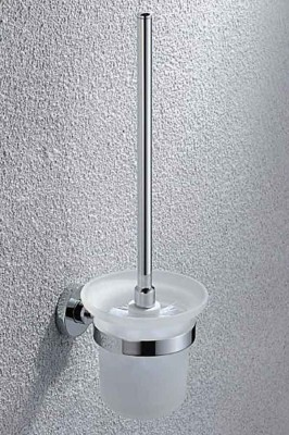Wall-mounted Toilet Brush and Holder in Chrome