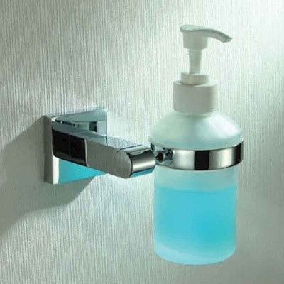 Bathroom Wall Mounted Soap Dispenser Holder in Chrome