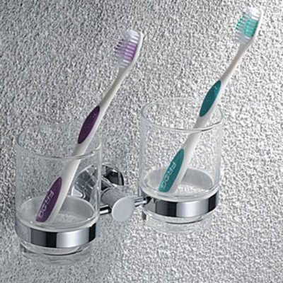 Double Toothbrush Holder in Chrome | Toothbrush Holder Supplier
