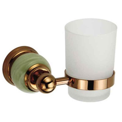 Gold Toothbrush Holder in Luxury Style with One Cup