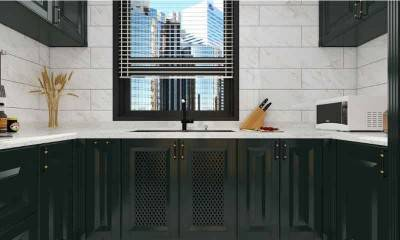 Black Kitchen Cabinets 12m²/129ft² | Kitchen Cabinet Design