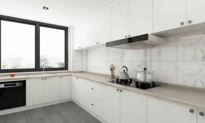 L-shaped Kitchen Ideas | Custom White Kitchen Cabinets