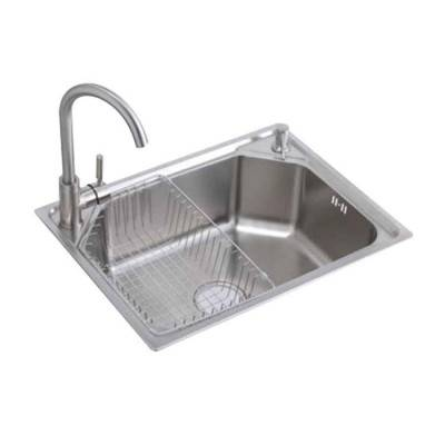Single Bowl Kitchen Sink with Dish Rack and Drainage