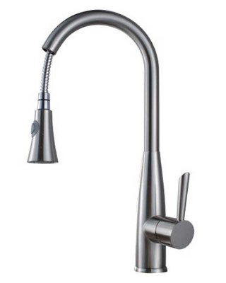 Pull Out Sprayer Kitchen Faucet | Brushed Nickel Pull Down Kitchen Faucet