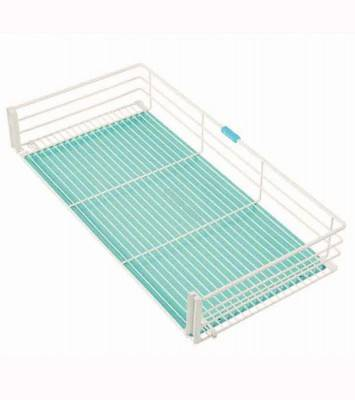 Pull-out Kitchen Drawer Organizer in White