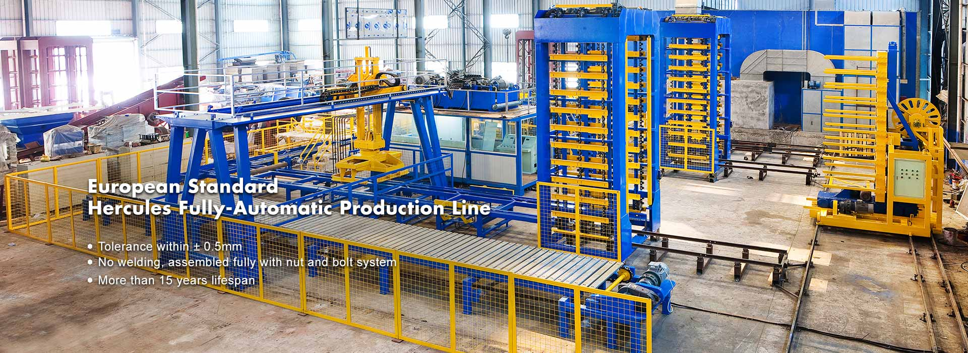 Helautomatisk Concrete Block Production Line