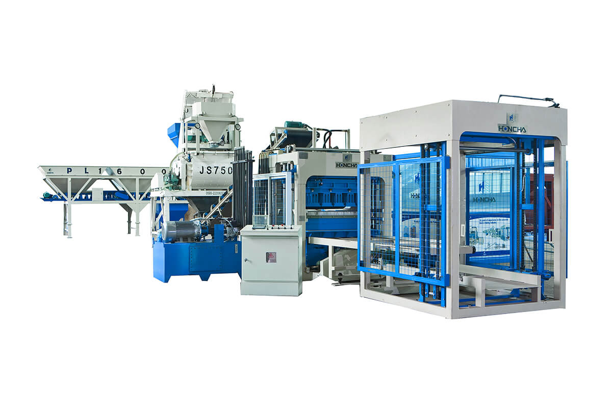 Enkelt Automatisk Concrete Block Production Line
