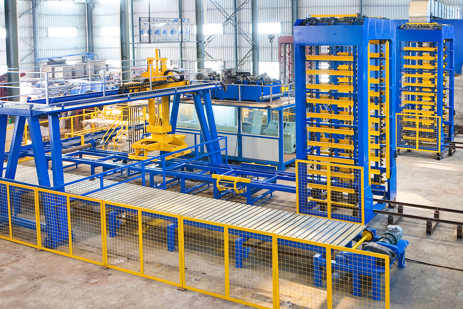 Full Automatisk Betong Block Production Line