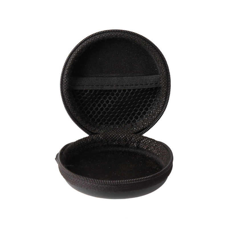 OEM Manufacturer Felt Laptop Case - Round Shape Carrying Hard EVA Case for Earbuds Earphone  – H&X