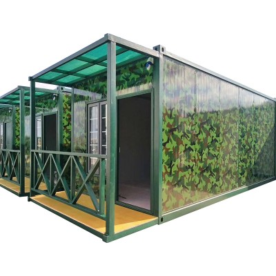 glass prefabricated steel prefab house