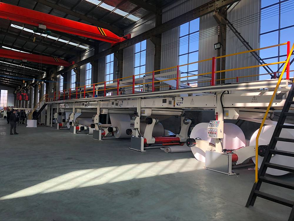 HRB EUROPE 5 ply cardboard production line export to UK. this plant will installation on June,2019