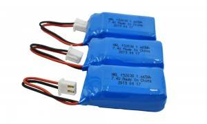 rechargeable lithium-ion batteries HRL752035 450mAh 7.4v