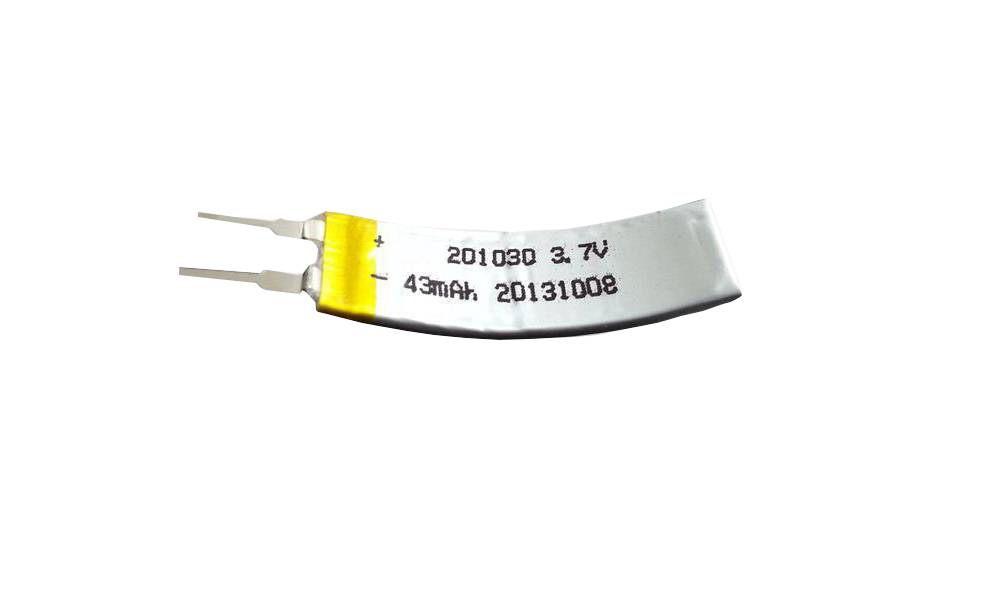 Wholesale Flexible Lipo Battery 3.7v 43mah hrl201020 curved lipo battery Featured Image