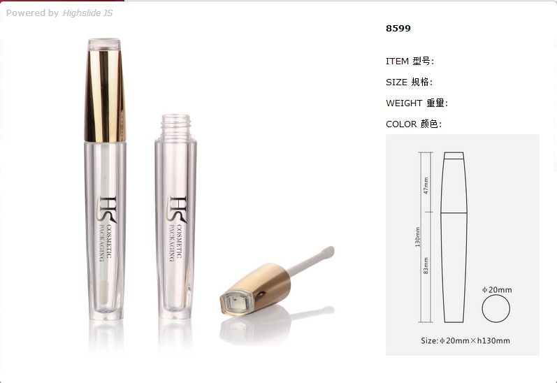 Latest products makeup luxury clear unique gold empty lip gloss tube container