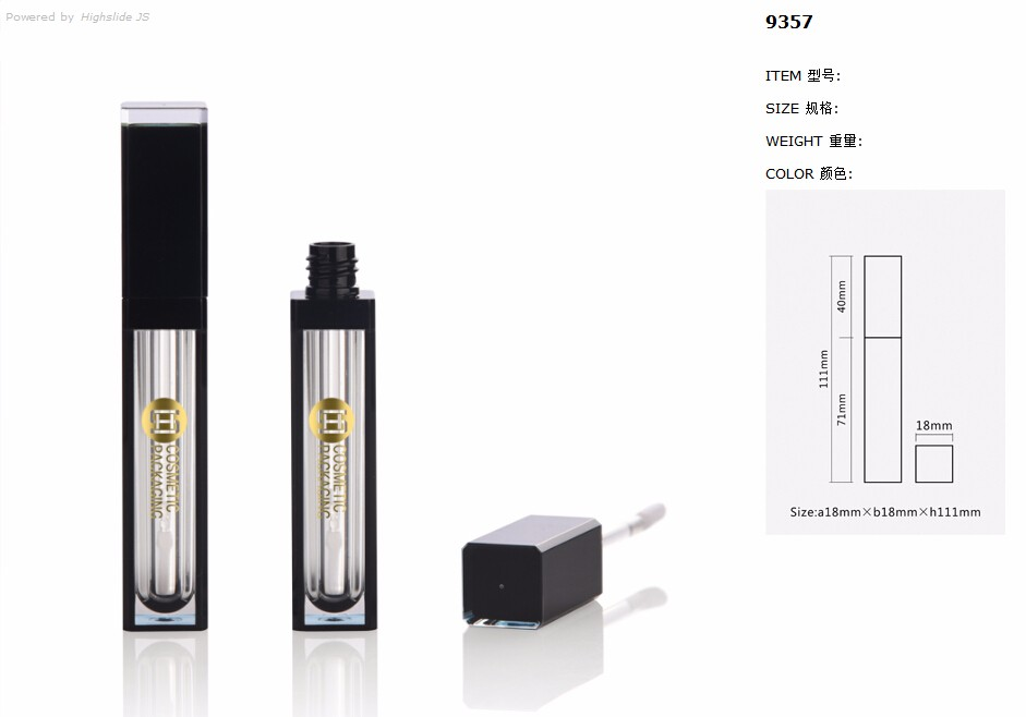 Fancy empty window liquid lipstick packaging with private label