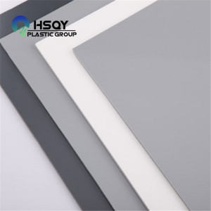 Best Price on Colored Plastic Sheets - PVC Grey Board – Huisu