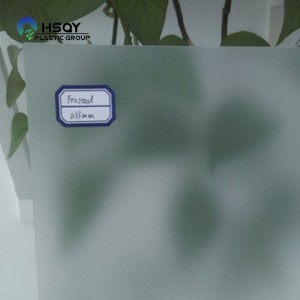 Bottom price Inkjet Pvc Sheet - Frost Clear PVC Sheet – Huisu