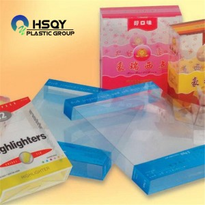 2019 High quality Rigid Clear Plastic Sheet - PVC Sheet For Folding Box – Huisu