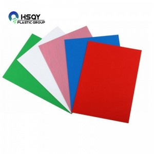 Free sample for Pvc Film - PVC COLOERD SHEET – Huisu